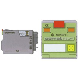 High Power Relay 1-Pole 16A: (DC Loads to 10A) 400VAC 115 VAC Coil + Led