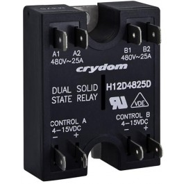 Dual SSR, 530VAC/40A, 4-15VDC In, RN