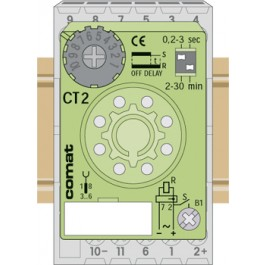 Plug-in time cube 2 pole On Delay 90-265V